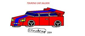 Touring car saloon